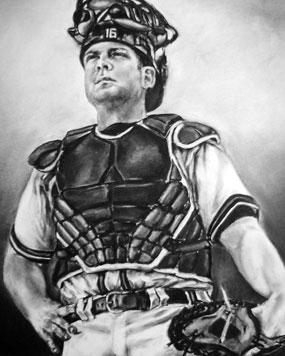 Brian McCann in charcoal, by Lauren Creedon