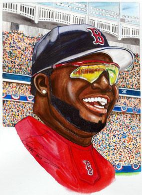 Dave Olsen, David Ortiz of the Boston Red Sox