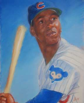 Kevin McNeil, Ernie Banks of the Chicago Cubs