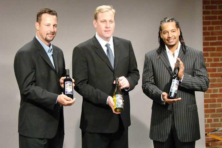 Tim Wakefield, Curt Schilling and Manny Ramirez