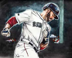 Dave Olsen, J. D. Martinez of the Boston Red Sox Memorial Day Home Run 2018