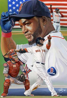 "David Ortiz, ""Tip of the Cap"" by Jon Banchick"