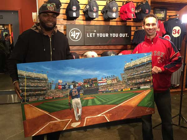 David Ortiz with Justyn Farano
