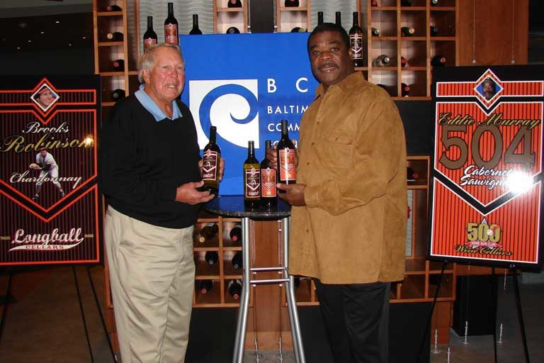 Brooks Robinson with Eddie Murray