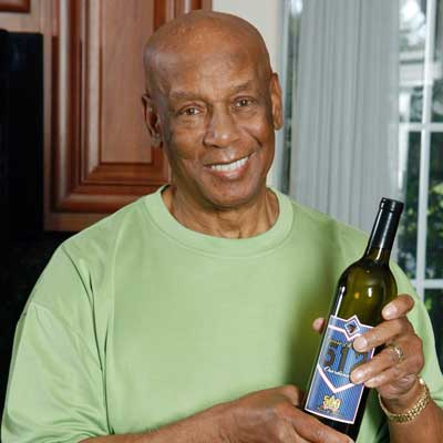 Ernie Banks and 512 Chardonnay wine