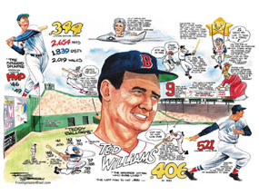 "Frank Galasso, Ted Williams of the Boston Red Sox: ""A Tribute to Ted Williams"""