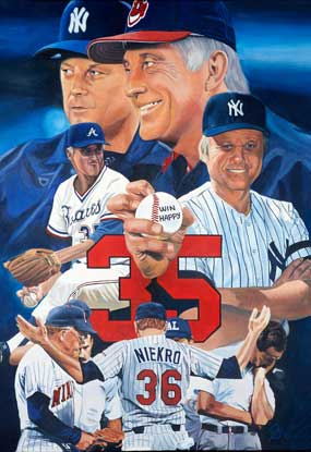 Niekro Brothers, by Jon Banchick