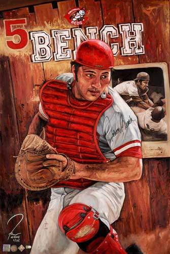 Johnny Bench, by Justyn Farano