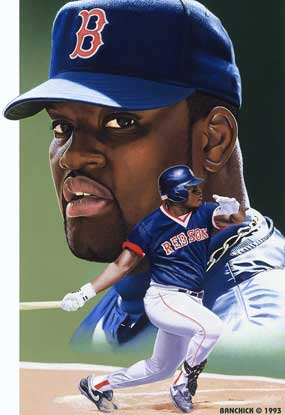 Mo Vaughn, by Jon Banchick