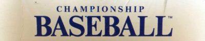 Championship Baseball by Gamestar - header
