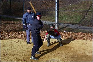 Eric Merryfield swings 42 inch stick