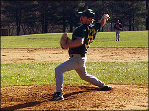 Dave Joseph of the Brockton A's goes several innings