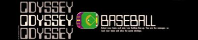 Magnavox Odyssey Baseball - header