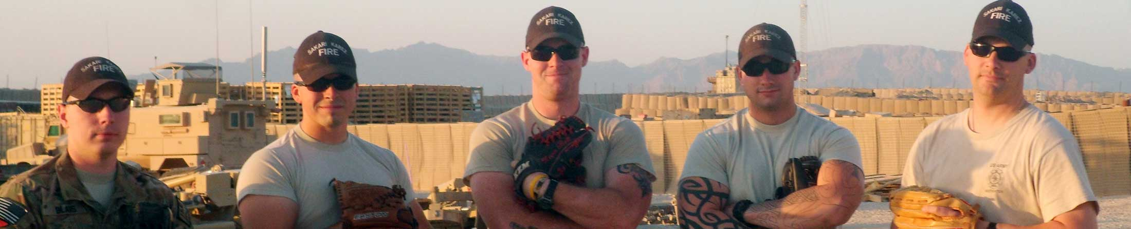 U.S. Army Baseball Players - header