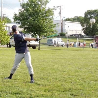 Beep Baseball batting