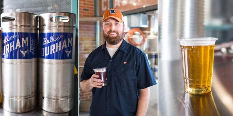 Durham Bulls Beer Co kegs