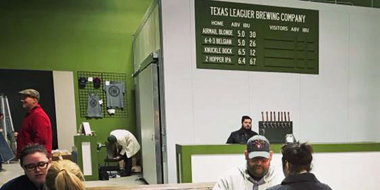 Texas Leaguer Brewing Beerpark