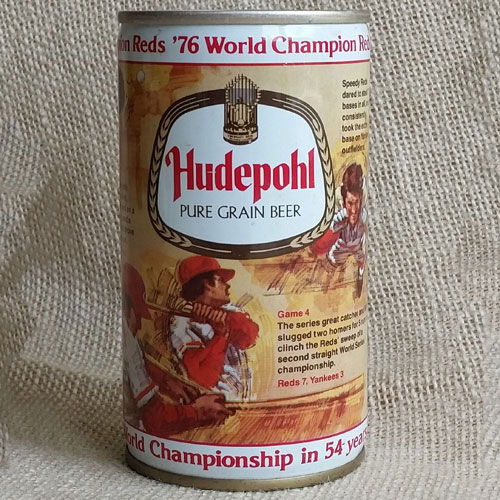 Hudepohl Pure Grain Beer Featuring 1976 Cincinnati Reds