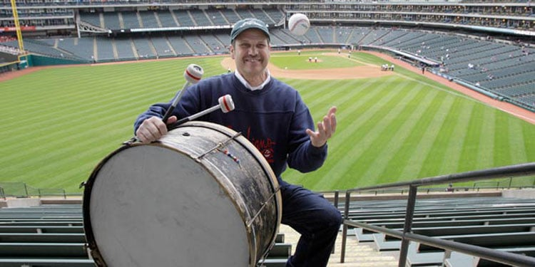John Adams, the Rally Drummer for the Cleveland Indians