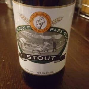 Park Stout – Old Oriole Park