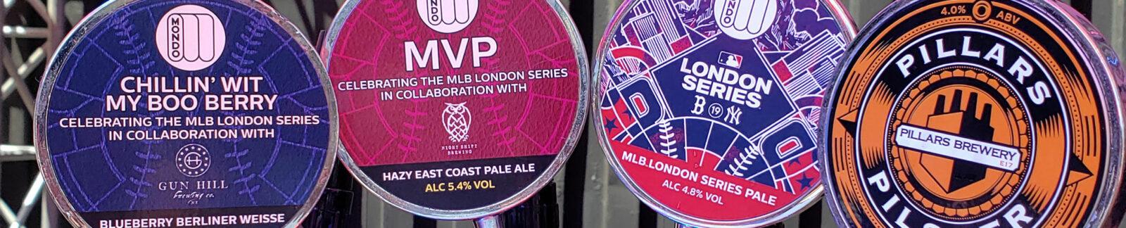 MLB London Series Beer Lineup header