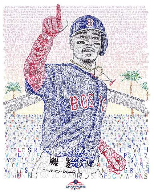 Mookie Betts – Dan Duffy, Art of Words