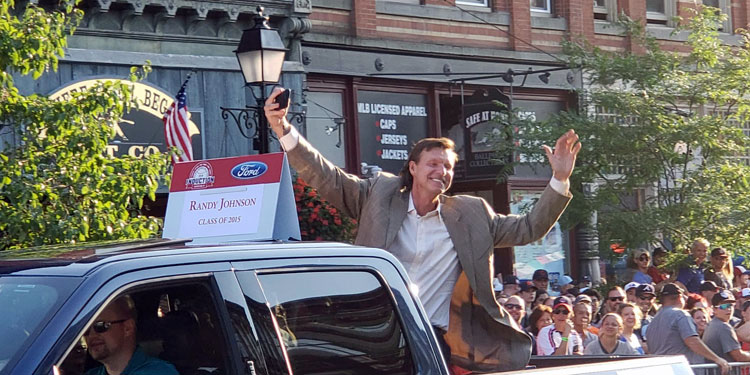 Randy Johnson in the Parade of Legends