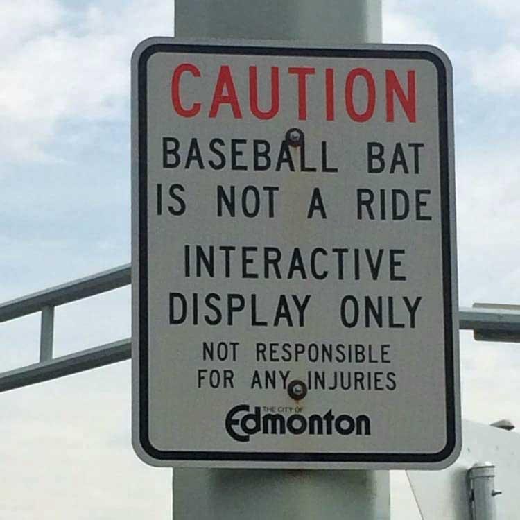 Baseball Bat Is Not a Ride