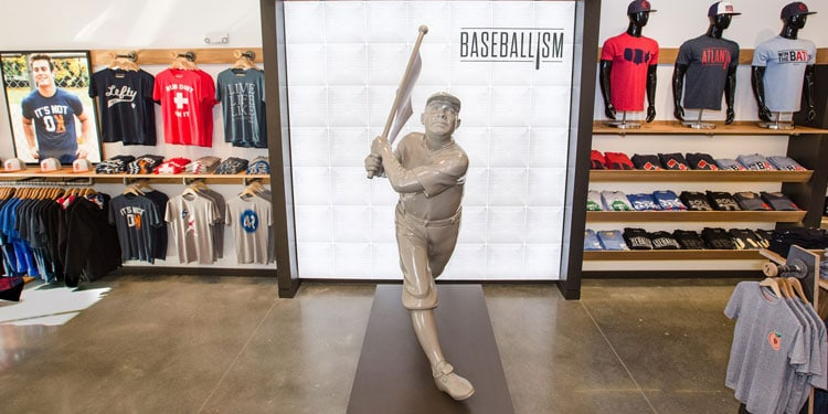 Baseballism Retail Store with Flagman