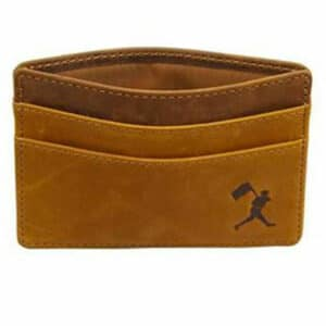 Baseballism: Flag Man Cardholder Wallet - Glove Leather