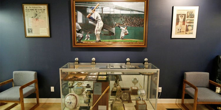 Van Meter City Hall, Bob Feller Artifacts
