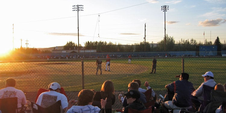 Midnight Sun Baseball Game, Fairbanks, Alaska