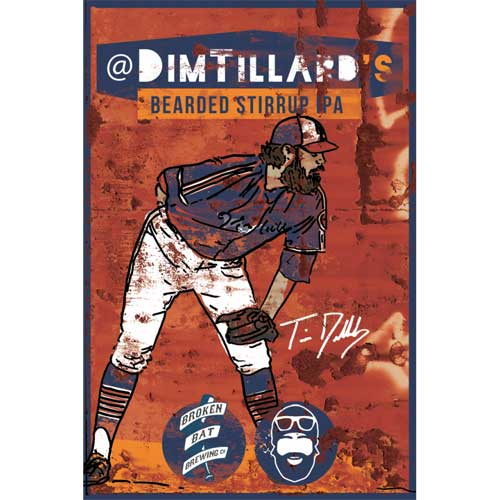 Dim Tillard's Bearded Stirrup IPA - Broken Bat Brewing Co.