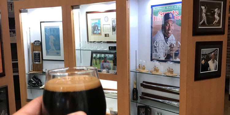 Tony Gwynn Museum Jersey at Alesmith Brewery