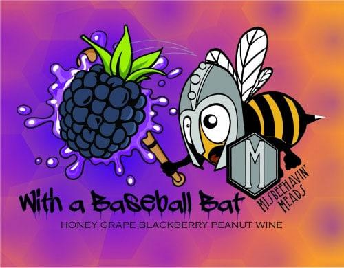 With a Baseball Bat Blackberry