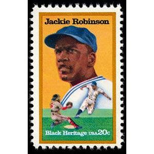 Jackie Robinson, 1982 U.S. Postage Stamp – 20¢