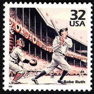 Babe Ruth, Celebrate the Century U.S. Postage Stamp – 32¢