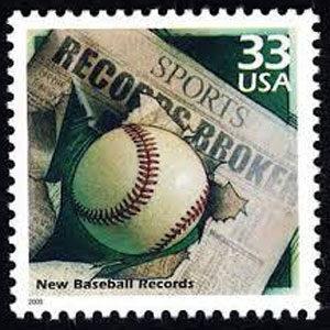 New Baseball Records, Celebrate the Century U.S. Postage Stamp – 33¢