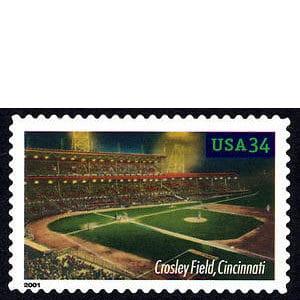 Crosley Field, Legendary Playing Fields, U.S. Postage Stamp – 34¢
