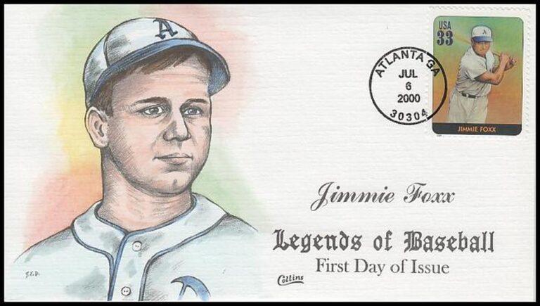 Jimmie Foxx, Legends of Baseball FDC
