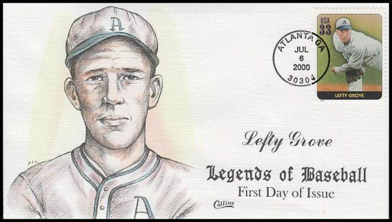 Lefty Grove, Legends of Baseball FDC