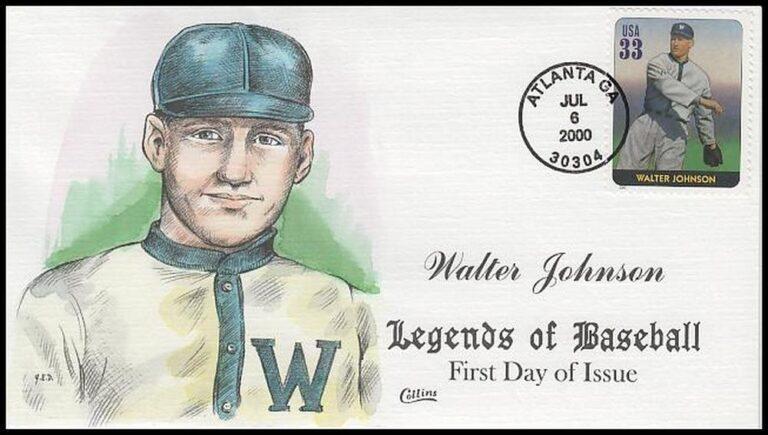 Walter Johnson, Legends of Baseball FDC