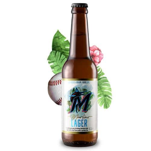 Marlins Lager bottle