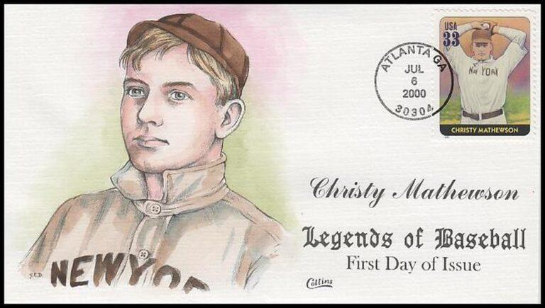 Christy Mathewson, Legends of Baseball FDC