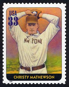 Christy Mathewson, Legends of Baseball U.S. Postage Stamp – 33¢