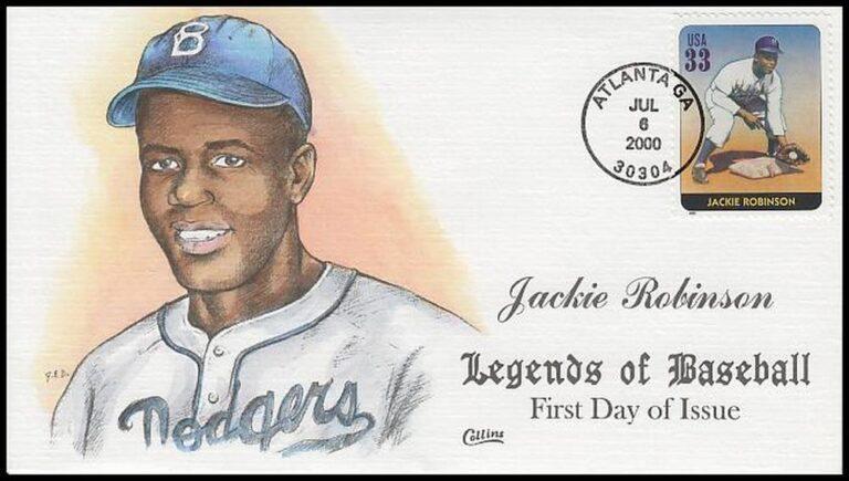 Jackie Robinson, Legends of Baseball FDC