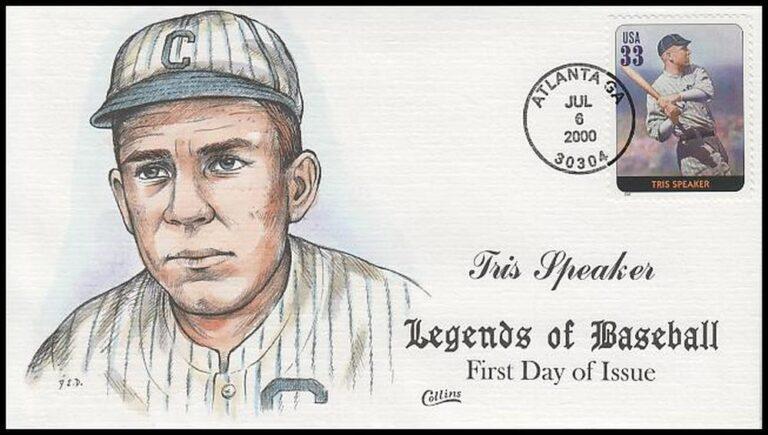 Tris Speaker, Legends of Baseball FDC
