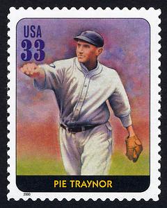 Pie Traynor, Legends of Baseball U.S. Postage Stamp – 33¢