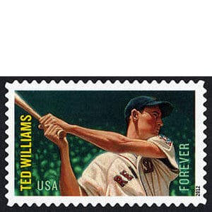 Ted Williams, U.S. Postage Stamp – Forever