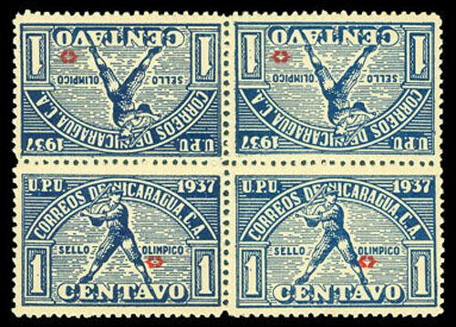 1937 Nicaragua – Central American Caribbean Games, Blue Block